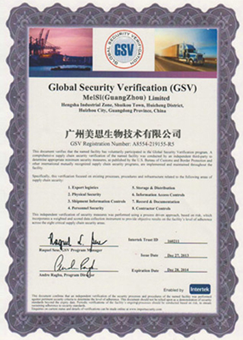 GSV证书