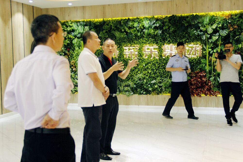 广州增城郑区长一行来访。