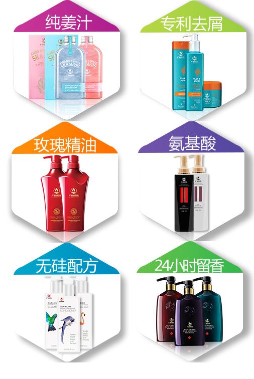 洗发水加工六大品类